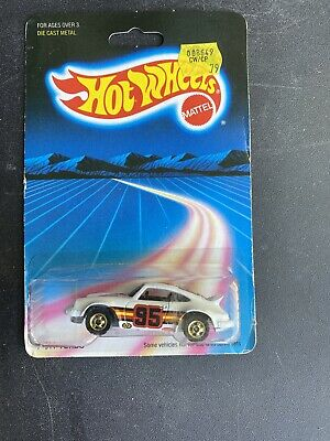 Vintage Hot Wheels Porsche P-911 Turbo #3969 MOC  1986 White 1:64