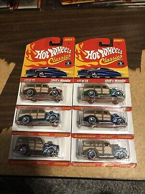 Hot Wheels Classics Series 1 1940's Woodie Lot Of 6 Different Colors