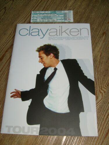Clay Aiken Concert Program 2004 Independent Tour with Ticket
