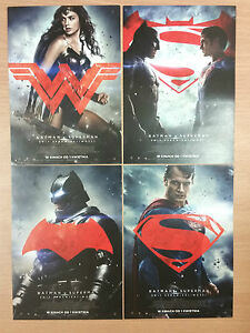 Batman v Superman Dawn of Justice - SET OF 4 Polish promo FLYERS - <span itemprop=availableAtOrFrom>Gdynia, Polska</span> - Batman v Superman Dawn of Justice - SET OF 4 Polish promo FLYERS - Gdynia, Polska