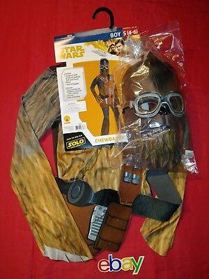 Solo A Star Wars Story Chewbacca Child KIDS BOYS GIRLS Costume SZ S 4-6 NEW (Chewbacca Girl Kostüme)