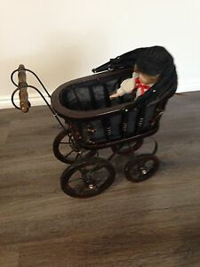Old style dolls pram with doll. Prospect Launceston Area Preview