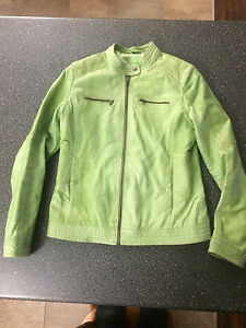 Green Leather Jacket from Danier Leather