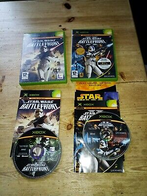 2 ORIGINAL XBOX/360 COMPATIBLE VIDEOGAMES STAR WARS BATTLEFRONT 1 & 2 (II)
