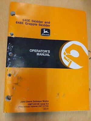 John Deere 640e Skidder And 648e Grapple Skidder Operators Manual