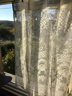 Laura Ashley Victorian style cotton lace curtain panel 36