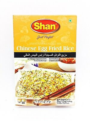 Fried Rice Dishes (3X 35g Shan CHINESE EGG FRIED RICE Indian Pakistani Dish Food Cuisine USA SELLER )