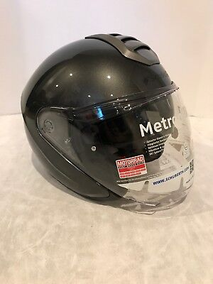 Schuberth M1 Amsterdam Anthracite Open Face Motorcycle Helmet Small Anthracite Open Face Helmet