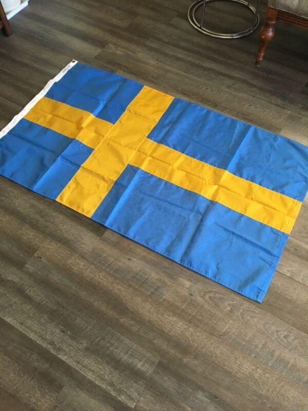 Nylon Glow Sweden Swedish Country Flag 3ft x 5ft
