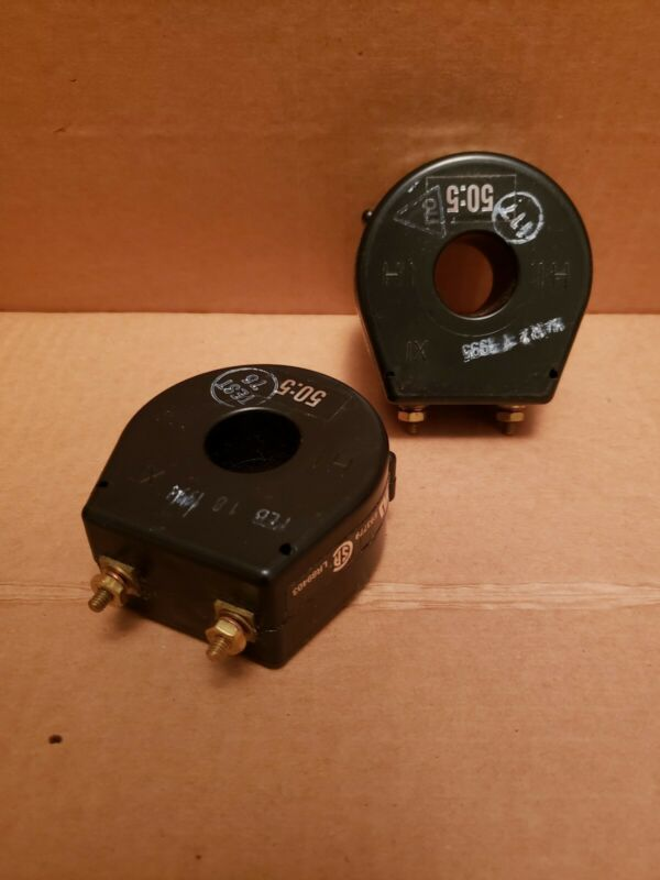 (LOT OF 2) EIL Instruments Cat # 15 RT-500 Current Transformer Ratio 50:5 A