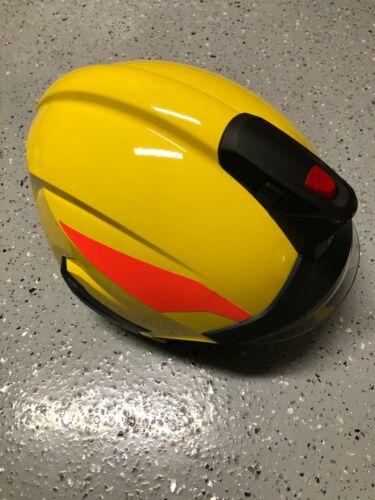 Rosenbauer HEROS-Titan Pro Firefighter Helmet w/ LED Light - Yellow - UNISSUED