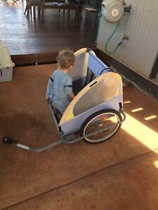 Kids 2 seater bike cart