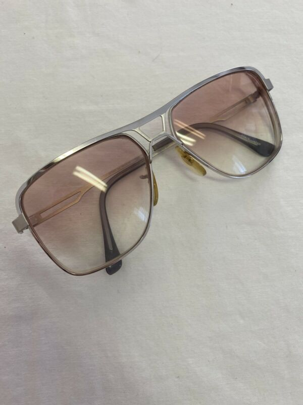Vintage SHURON Destry White Metal Eyeglass Frame Old Stock #57014
