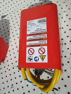 Ridgid Foot Switch B-294 115v Model Part Number 36642