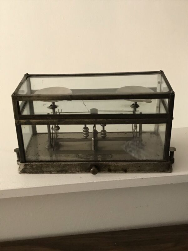 Antique Glass Pharmacy Drug Store Scale - The Torsion Balance Co. NY STYLE 2551
