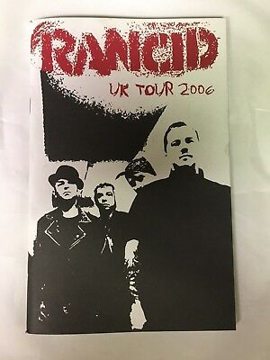 RANCID UK TOUR DIARY BOOK PROGRAM 2006 RARE AND OUT OF PRINT NEW