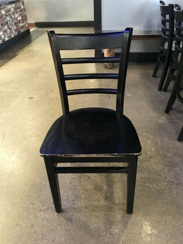 Lot Of 150+ Restaurant Wooden Chairs Black