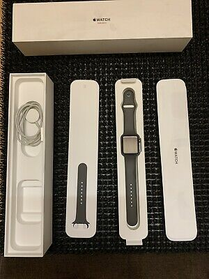 APPLE Watch Series 3 - Grey Sports Band, 42mm (GPS + Cellular) MR302B/A