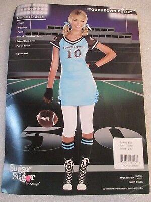 Dreamgirls Womens Halloween Costume Touchdown Cutie Football Dress Junior Sz 3-5 - Football Costume For Girls