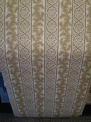 - Brown & Cream Leaf Design Stripe Wallpaper by Beacon House  85-64370