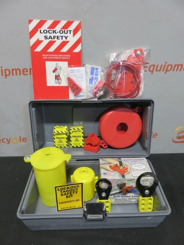 Brady Prinzing OSHA Lockout Safety Kit Tagout Station Padlock Toolbox