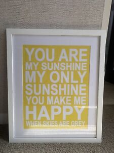 Framed 'you are my sunshine' print