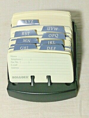 Rolodex Card File Open Business Card File Holder