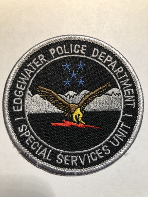 Edgewater Florida Police Special Services Unit SWAT / EST Patch~New Condition