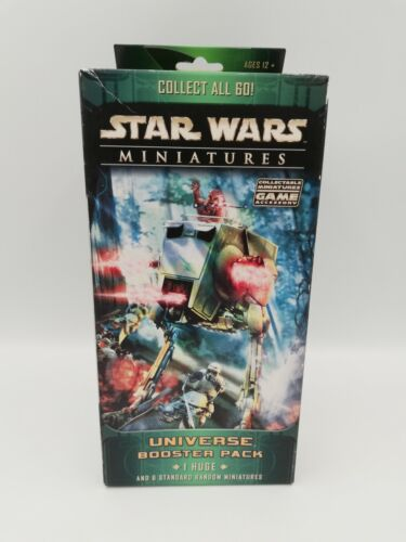 Star Wars Miniatures Universe Booster Pack 1 Huge & 6 Mineatures HTF New