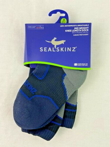 Sealskinz Waterproof Breathable Mid Weight Knee Length Sock Size Small