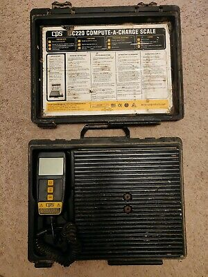 Cps Cc220 Compute-a-charge Refrigerant Charging Scale 220lb Capacity