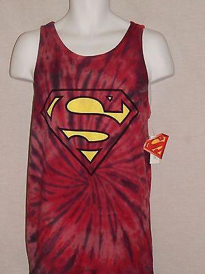 NEW Superman Sleeveless Muscle DC Comics Tank Top T-Shirt Mens Size M L 2XL