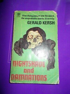 Nightshade and Damnations (Coronet Books) Kersh, Gerald rare horror book