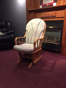 Gliding rocking chair