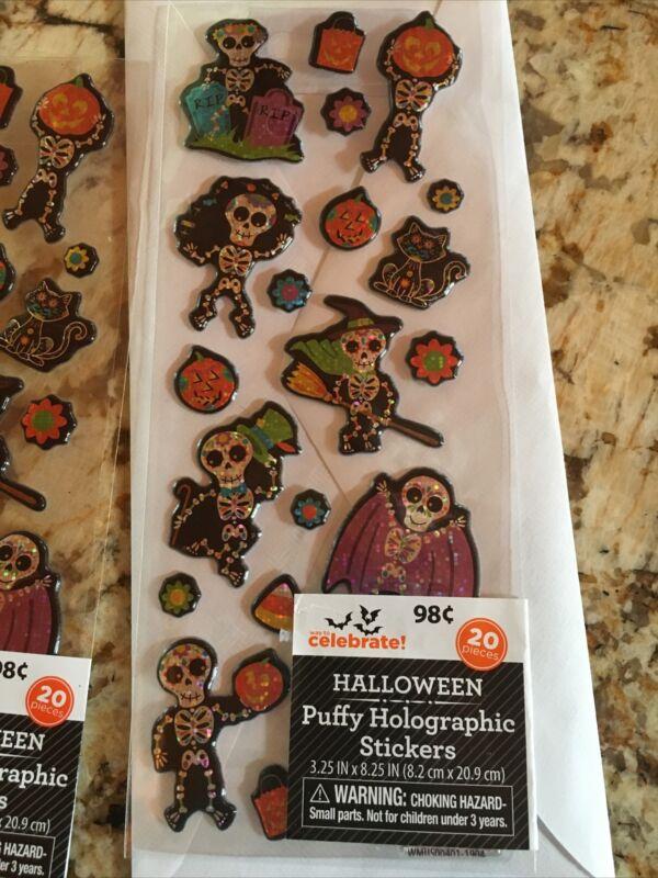 20 puffy Halloween stickers