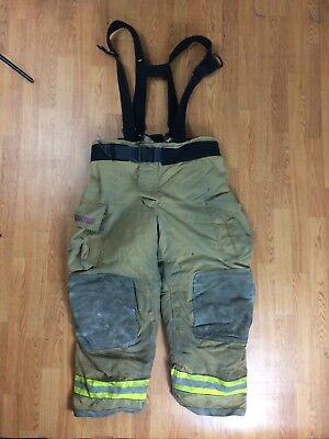 Globe Gxtreme Firefighter Bunker Turnout Pants W Suspenders 44 X 30 07