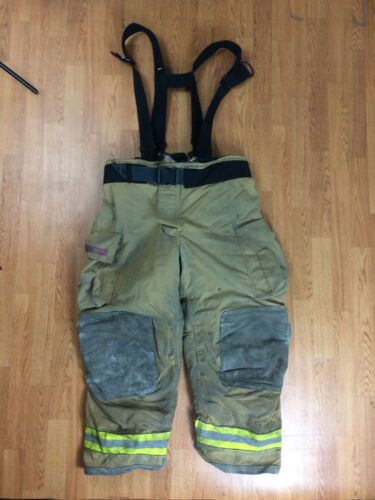Globe GXtreme Firefighter Bunker Turnout Pants w/ Suspenders 44 x 30