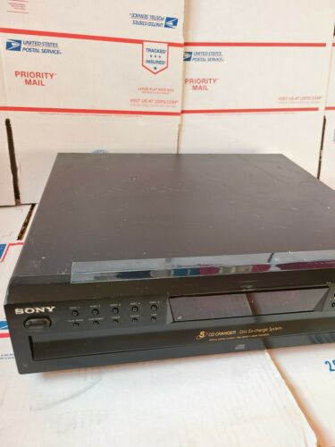 Sony CDP-CE375 5-Disc Carousel-Style CD Changer - Tested - Works Great - $89.99