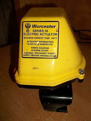 WORCESTER ELECTRIC ACTUATOR SERIES 36 MAX AMBIENT TEMP 150 DEG F USED (XX3)