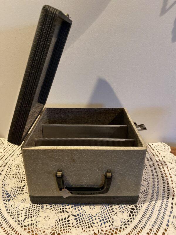 """Vintage 35mm Slide Magazine Storage Case Box 11"""" X 10"""" X 7 3/4"""""""