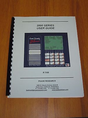 Phase Research Fast Track 22 Drive Thru Timer 2000 Series User Guide Manual