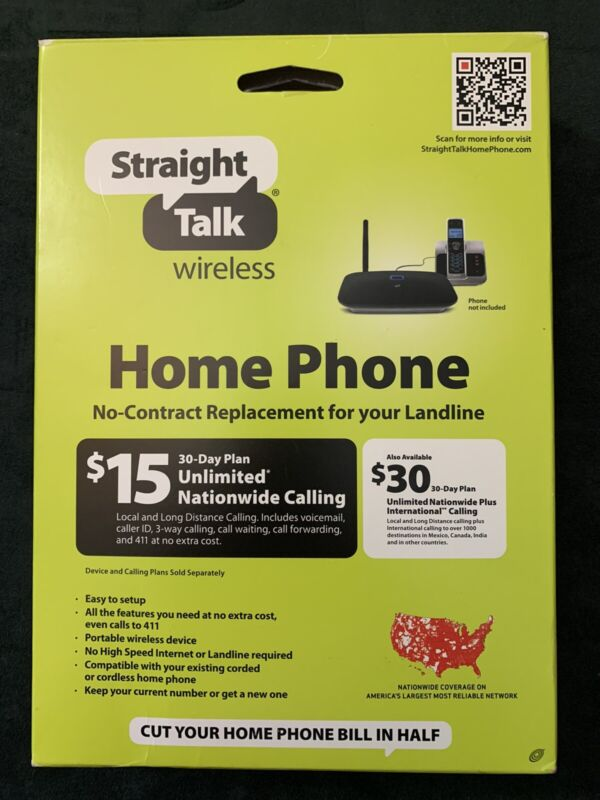 Straight Talk Wireless Home Phone Portable Base | No Contract | Model H226C
