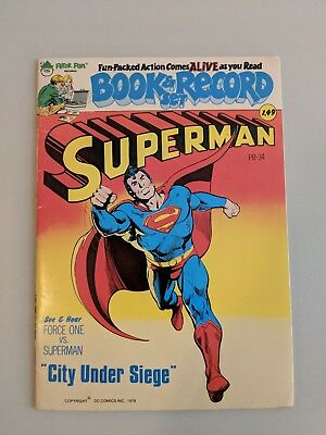 Superman City Under Siege FN Book And Record DC Comics](Supermans City)