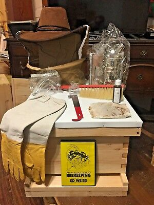 Beekeeping Starter Kit With Dvd Assembled 10 Frame Medium Cypress Beehive