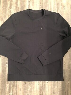 Men's Lululemon Long Sleeve Pullover Jacket Size XL Extra large Black Lulu Lemon