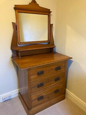 Antique Satinwood Dresser with mirror.