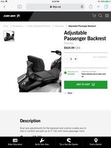 Can am Spyder F3 Passenger Backrest