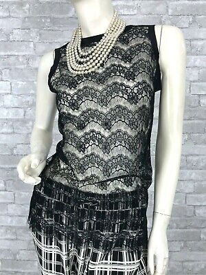 Dolce & Gabbana New Black Lace Blouse Dress Top 2 4 US 38 40 IT S Runway Auth