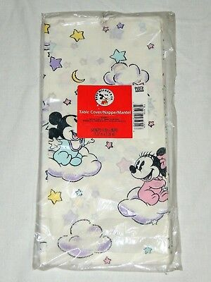 VINTAGE ~BABY MICKEY & MINNIE ~1- PAPER TABLE COVER 54