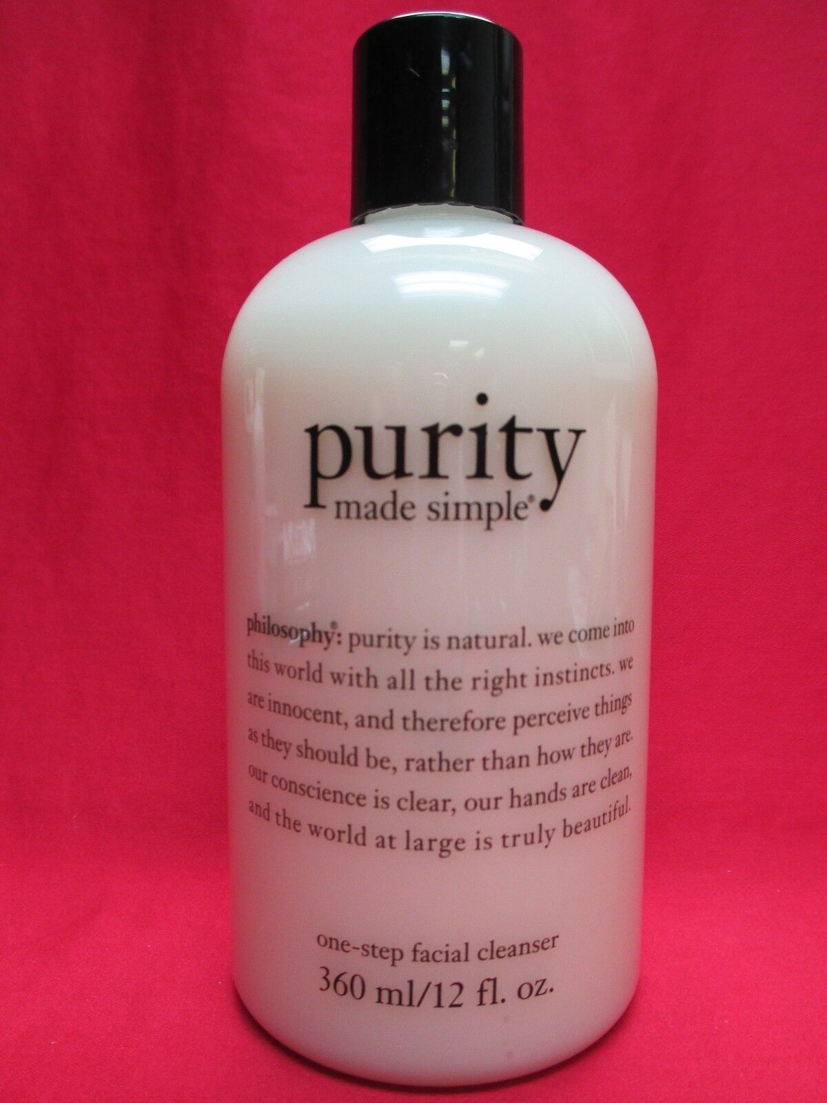 philosophy Purity Made Simple Facial Cleanser 12oz Sealed...